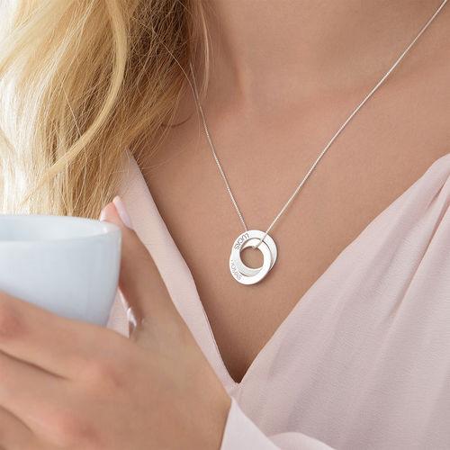 Russisk ring-halskæde med to ringe - 3