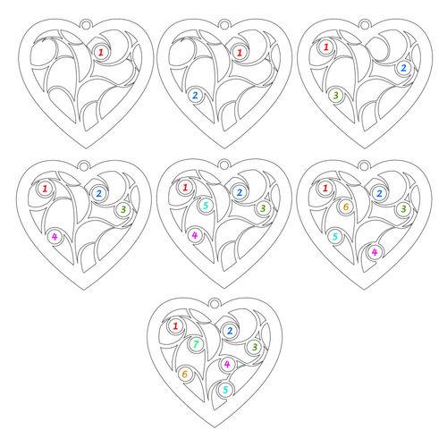Hjerteformet livets træ halskæde med månedssten i sterlingsølv - 4