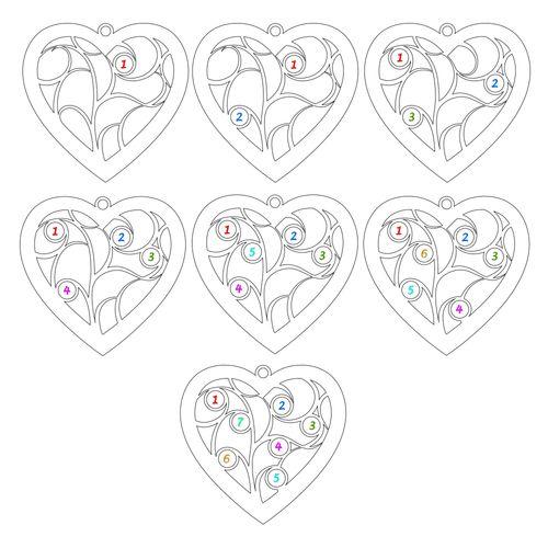 Forgyldt hjerteformet livets træ halskæde med månedssten - 3