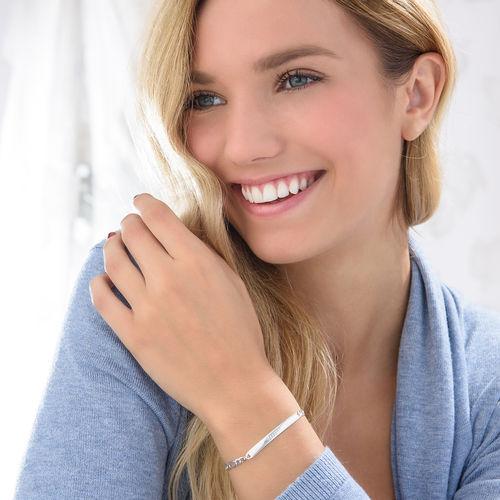 Italiensk ID-armbånd i sølv for kvinder - 2