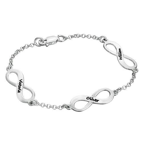 Infinity-Armbånd i Sølv med Flere Vedhæng