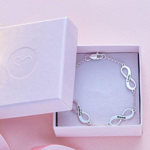 Infinity-Armbånd i Sølv med Flere Vedhæng - 5