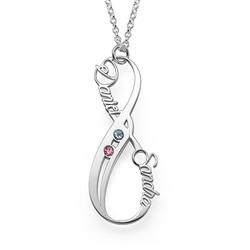 Vertikal Infinity-Halskæde med Månedsten product photo