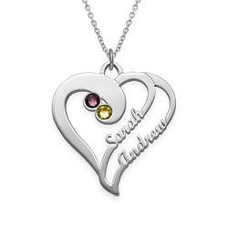 To hjerter for evigt-halskæde i sølv product photo