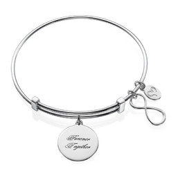 Infinity bangle armbånd med vedhæng product photo