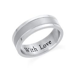 Indgraveret ring til mænd i rustfrit stål product photo