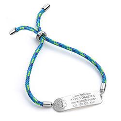 Medicinsk armbånd til børn i sterlingsølv product photo