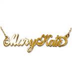 Carrie-Style navnehalskæde to store bogstaver i 14kt. guld