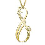 Guldbelagt Vertikal Infinity-Halskæde