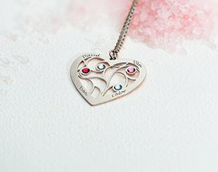 Hjerte smykker og vedhæng