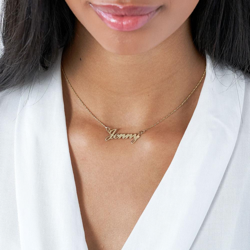 Collar Clásico Pequeño con Nombre en Oro 14K - 1