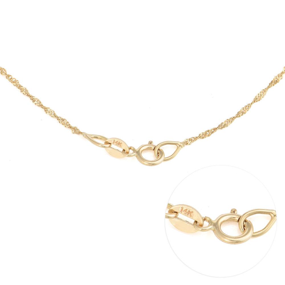 Collar Clásico Pequeño con Nombre en Oro 14K - 3