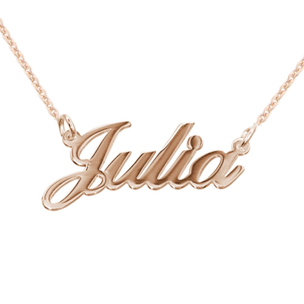 Collar pequeño con Nombre Clásico Chapado en Oro Rosa 18k foto de producto