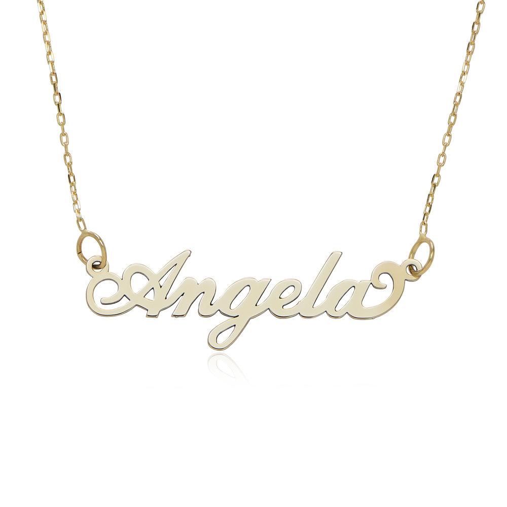 "Joyeria personalizada- Collar ""Carrie"" en oro de 10K"