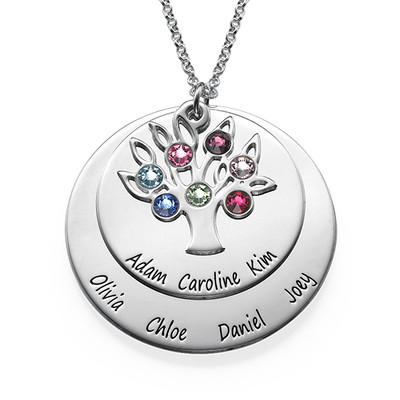 Collar Árbol de la Vida en Círculos con Piedras foto de producto