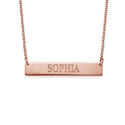 Collar de Barra Grabado en chapa de oro Rosa foto de producto