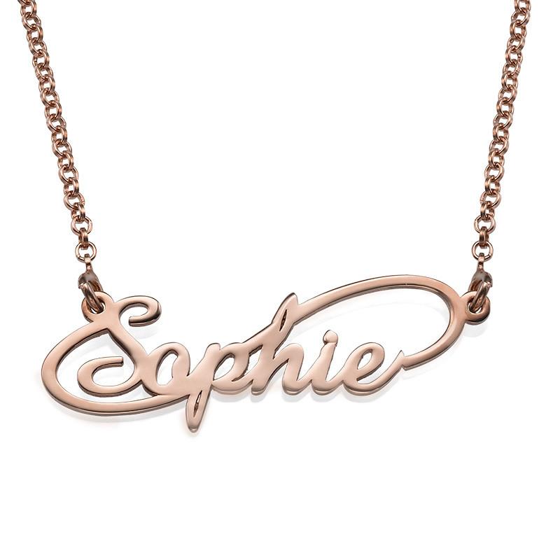 Collar con Nombre Estilo Infinito chapado en Oro Rosa de 18k foto de producto