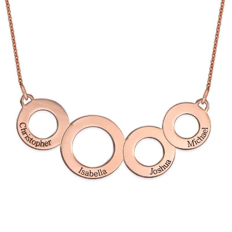 Collar Círculos Grabados Chapado en Oro Rosa foto de producto