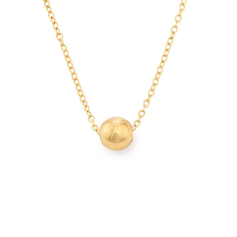Collar con bolita chapado en oro foto de producto