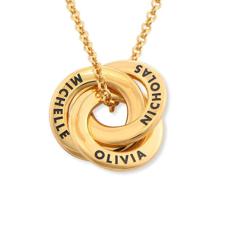 Collar anillo ruso chapado en oro - diseño mini