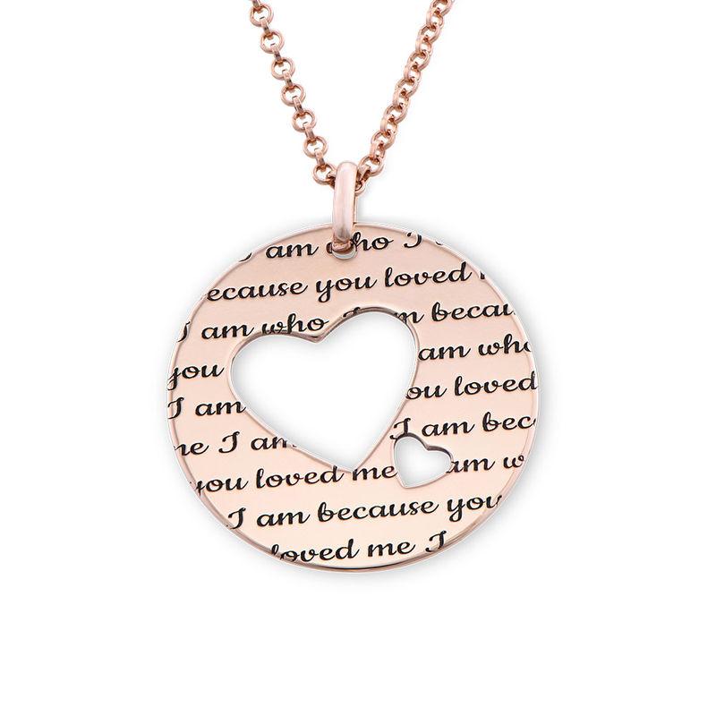 Collar círculo de amor chapado en oro rosa foto de producto