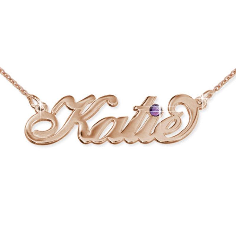 Collar con Nombre Chapado en Oro Rosa foto de producto