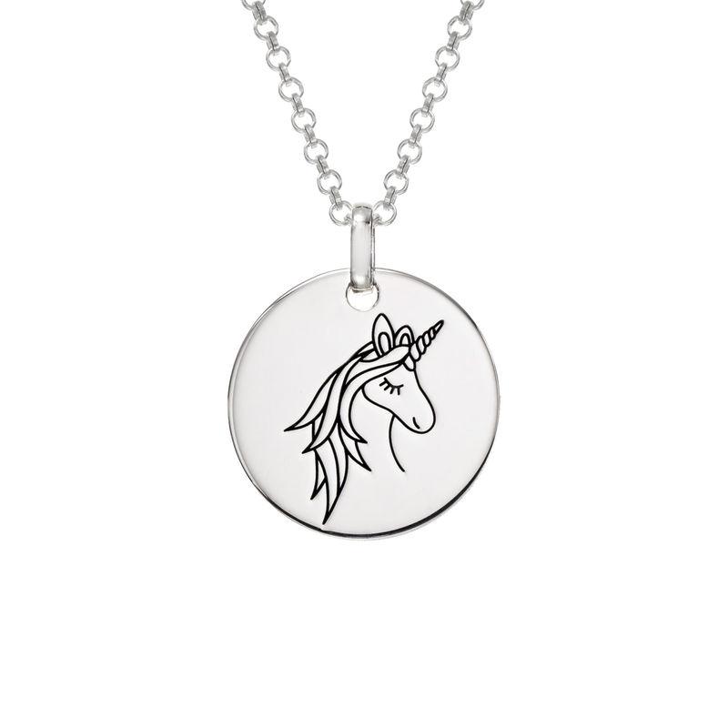 Colgante Unicornio en plata 925 foto de producto