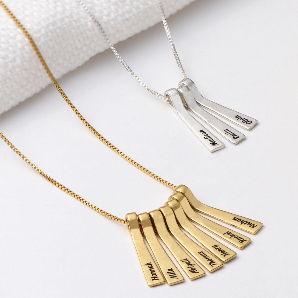 Collar xilófono de barra con nombres de niños en chapa de oro de 18k - 2