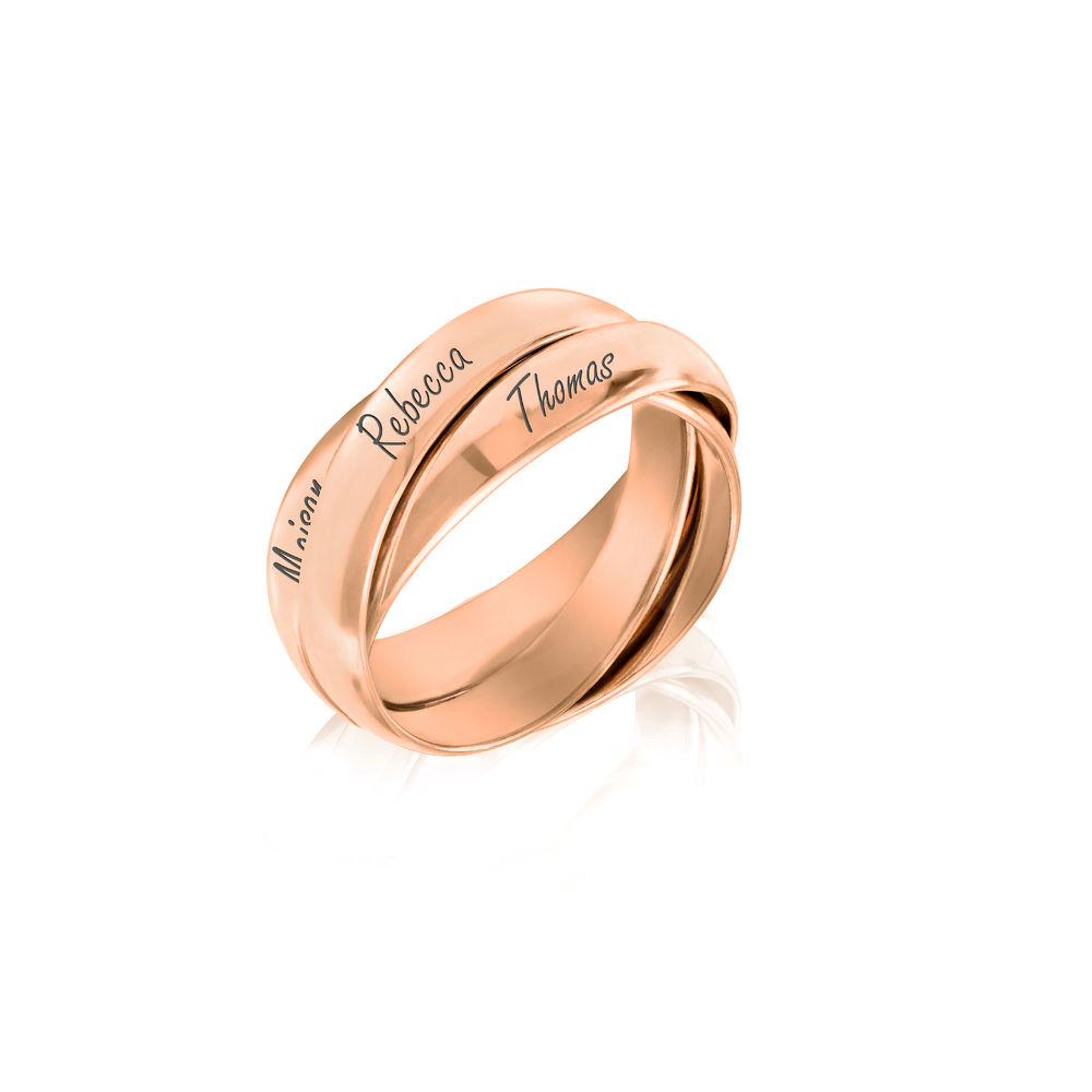 Anillo Ruso Charlize en chapa de oro rosa - 1