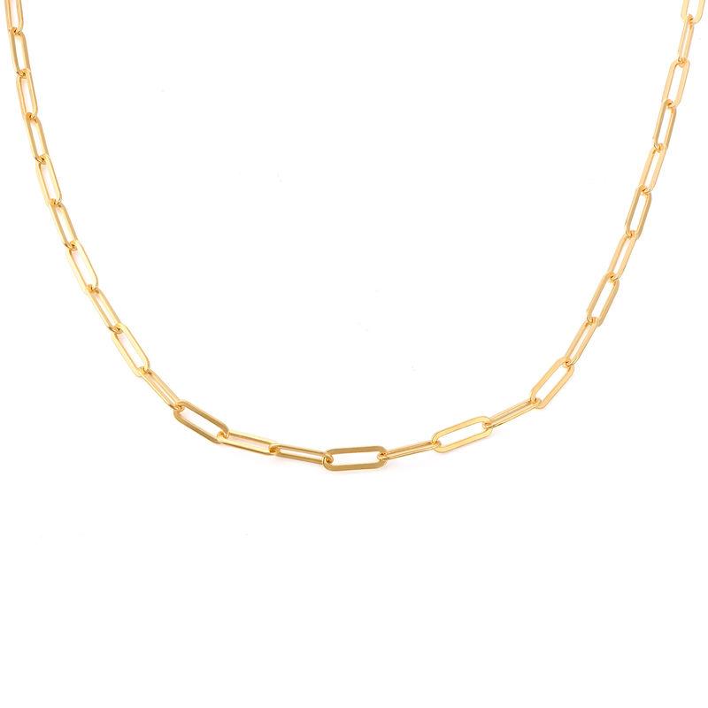 Collar Eslabones en Chapa de Oro de 18k foto de producto