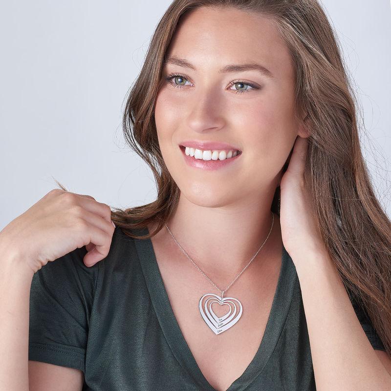 Sydänkaulakoru, sterling-hopea - 2