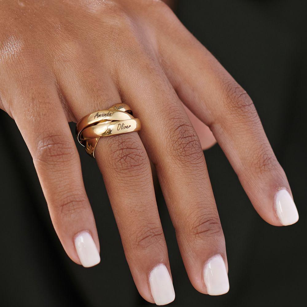 Charlize kolmen renkaan sormus kullattuna - 4