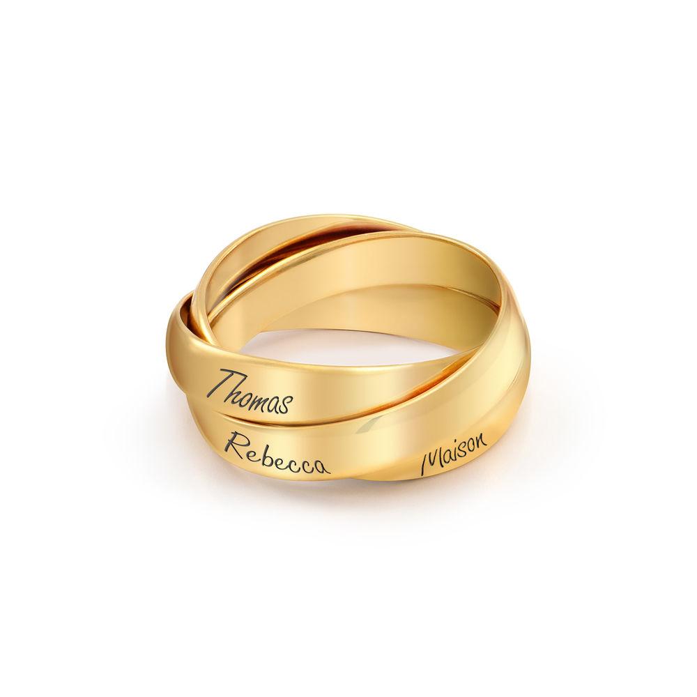 Charlize kolmen renkaan sormus Vermeil-kullalla