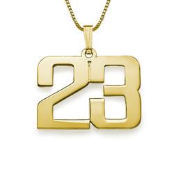 18K kullattu sterling-hopeinen kaulakoru numerolla tuotekuva