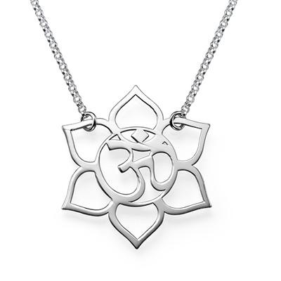 Fleur de Lotus avec symbole Om