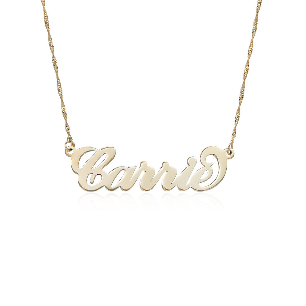 Petit Prénom Collier en Or 14Ct Carrie Bradshaw