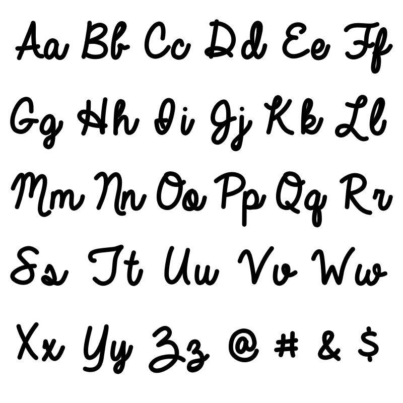 Collier prénom écriture personnalisée en or blanc 10 carats - 3
