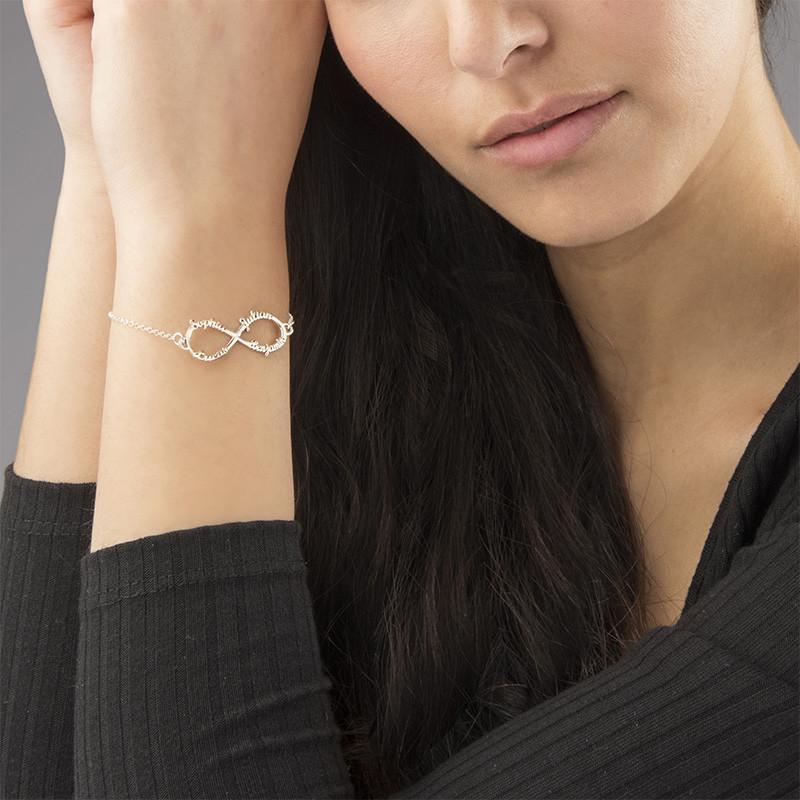 Bracelet Infini avec 4 prénoms - 2