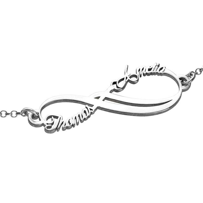Bracelet Infini avec 2 prénoms - 1