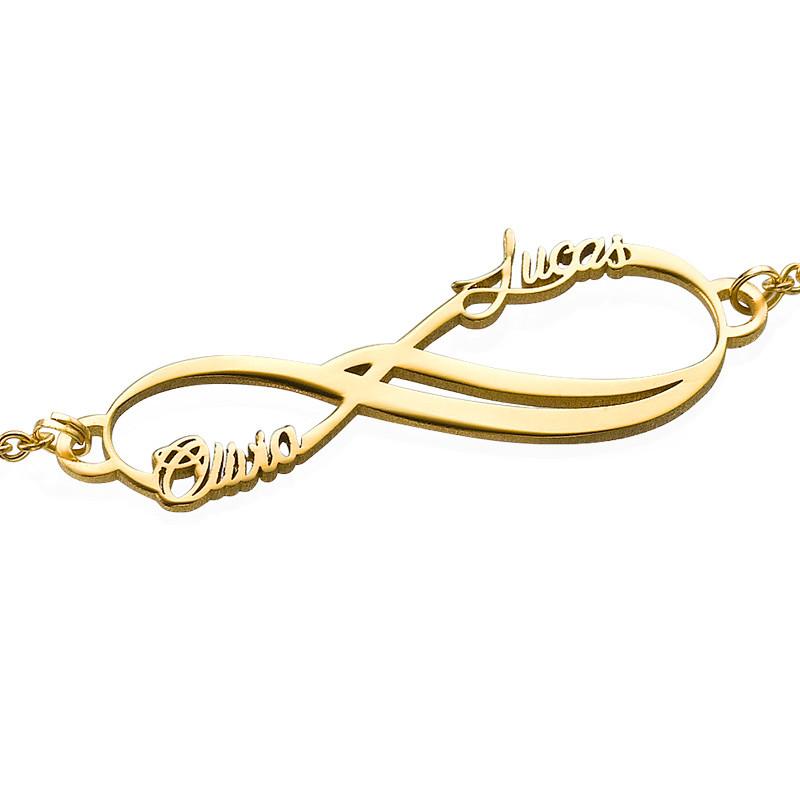Bracelet Infini 2 prénoms en Or 14cts - 1