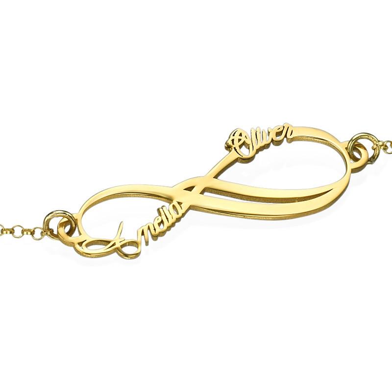 Bracelet Infini avec 2 prénoms en plaqué or - 1