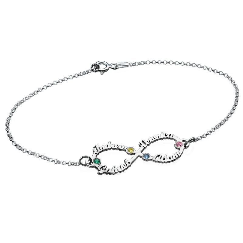Bracelet infini 4 prénoms