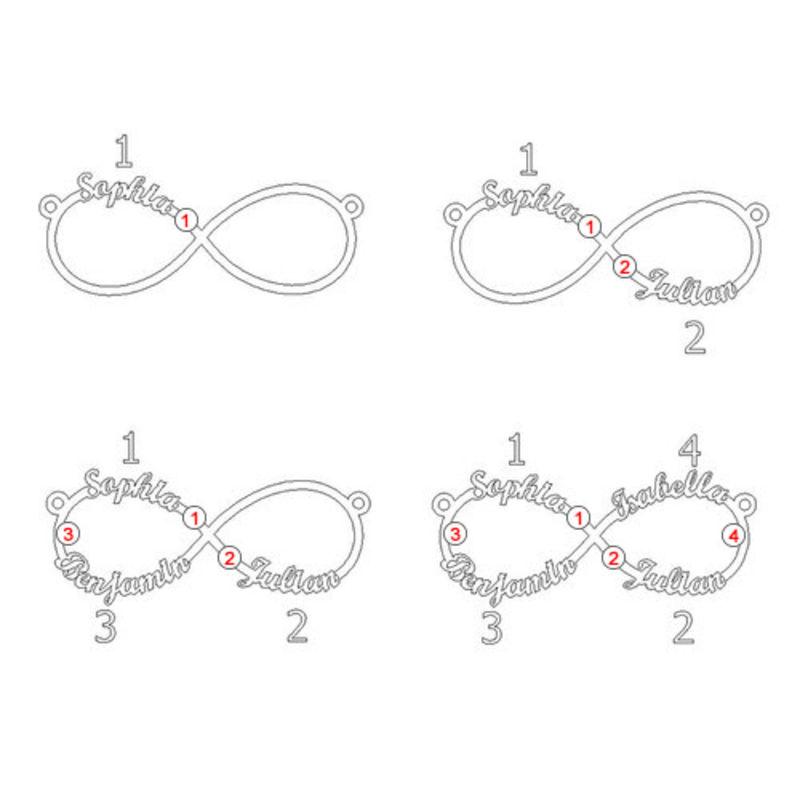 Bracelet infini 4 prénoms - 3