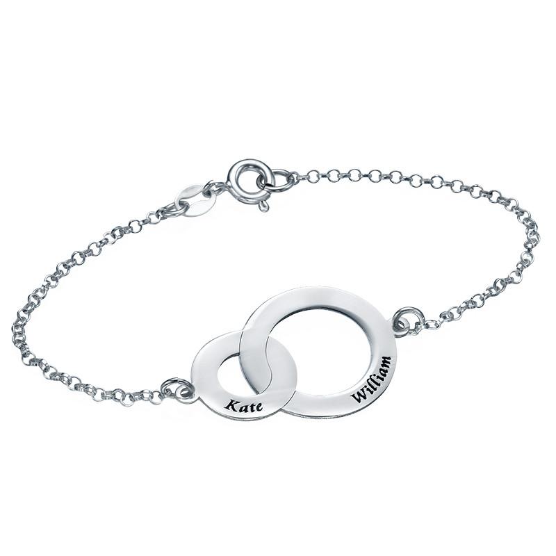 Bracelet Anneaux Entrelacés en Argent