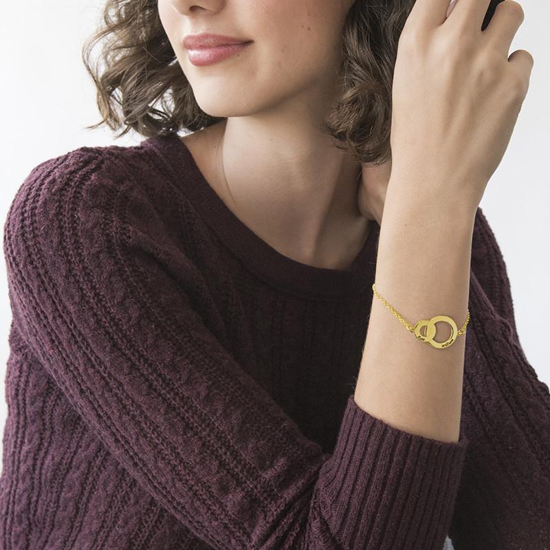 Bracelet Anneaux Entrelacés - Plaqué Or jaune - 2