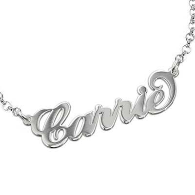 Bracelet Prénom style Carrie Bradshaw en Argent - 1
