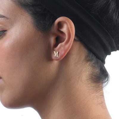 Boucles d'Oreilles Initiales, Or 14cts - 2