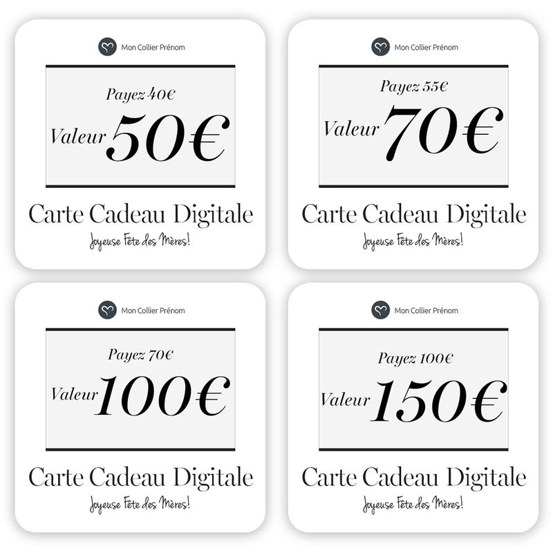 Carte Cadeau Digitale - Offrez leur le Montant de votre Choix - 4