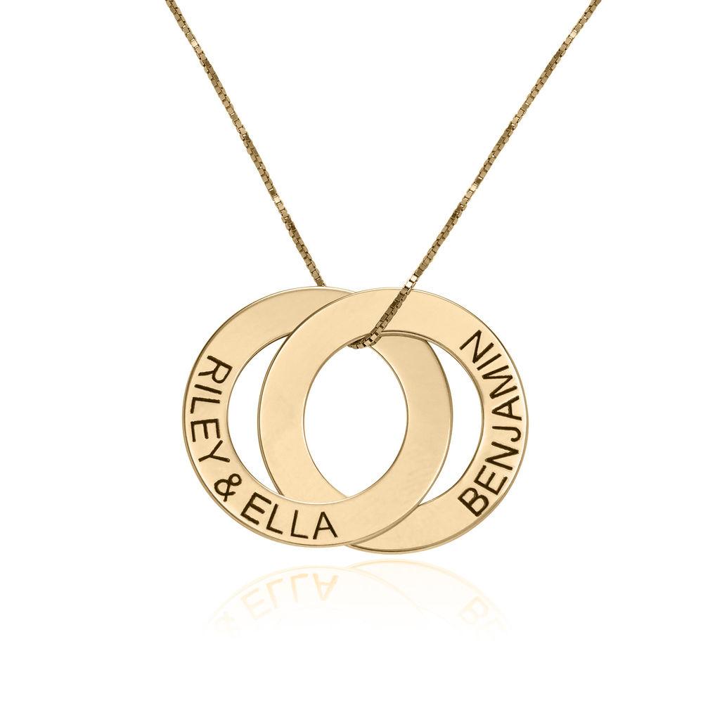 Collier avec 2 anneaux gravés en or 10 carats