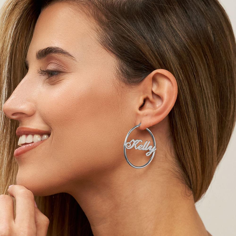 Boucles d'oreilles Créoles Personnalisable - 2